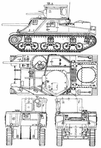 M3 Grant Lee Medium Schematics