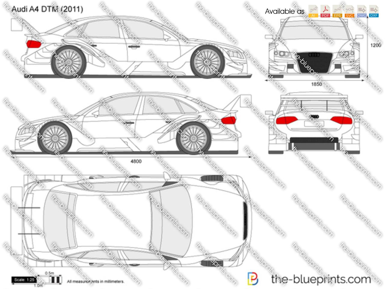 The Blueprints Com Vector Drawing Audi A4 Dtm