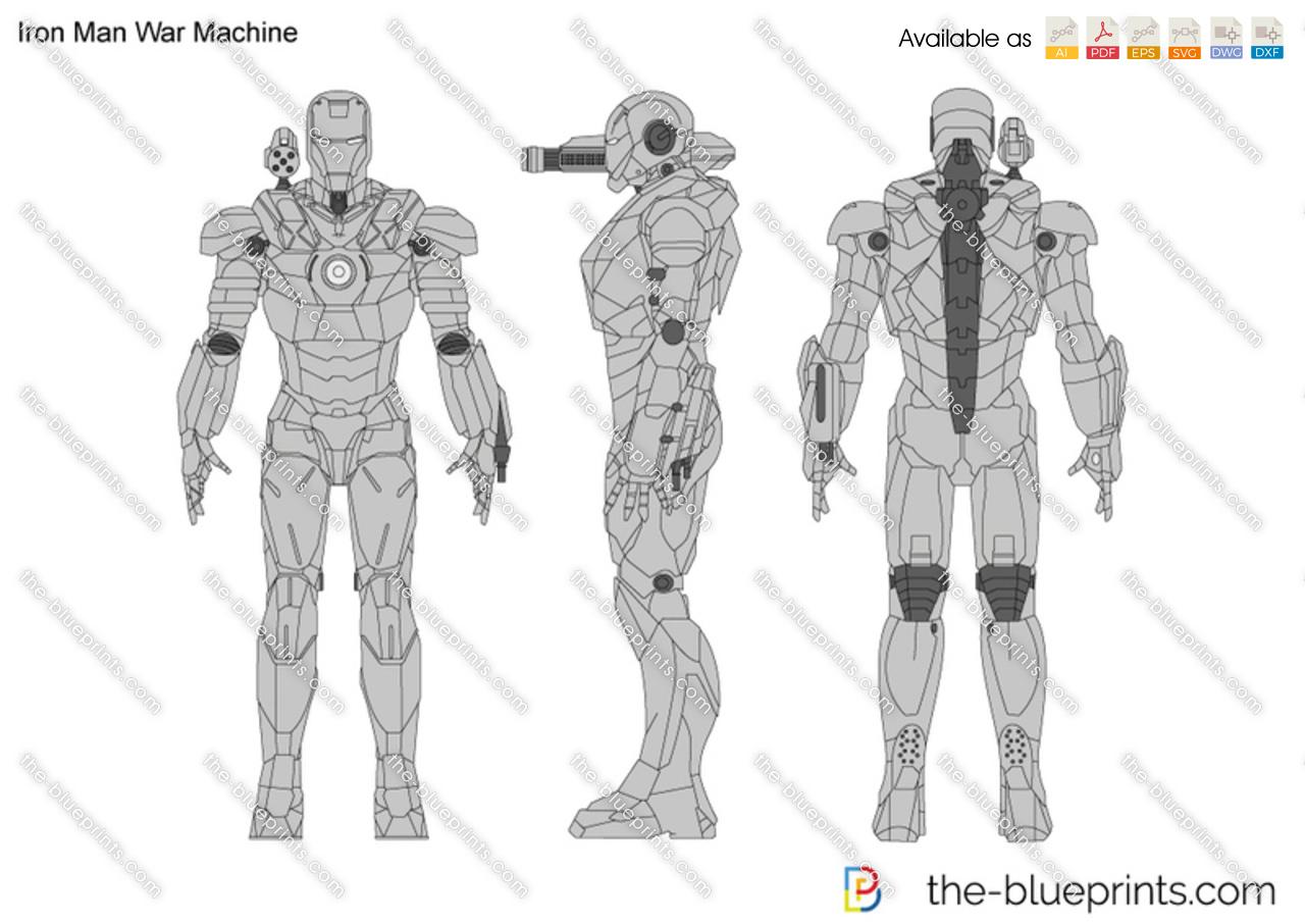 Pictures Of War Machine Suit Blueprints Iron Man Schematics Drawing