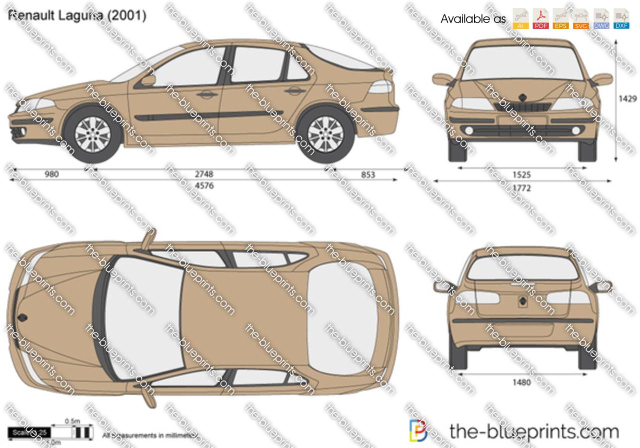 The Blueprints Com Vector Drawing Renault Laguna