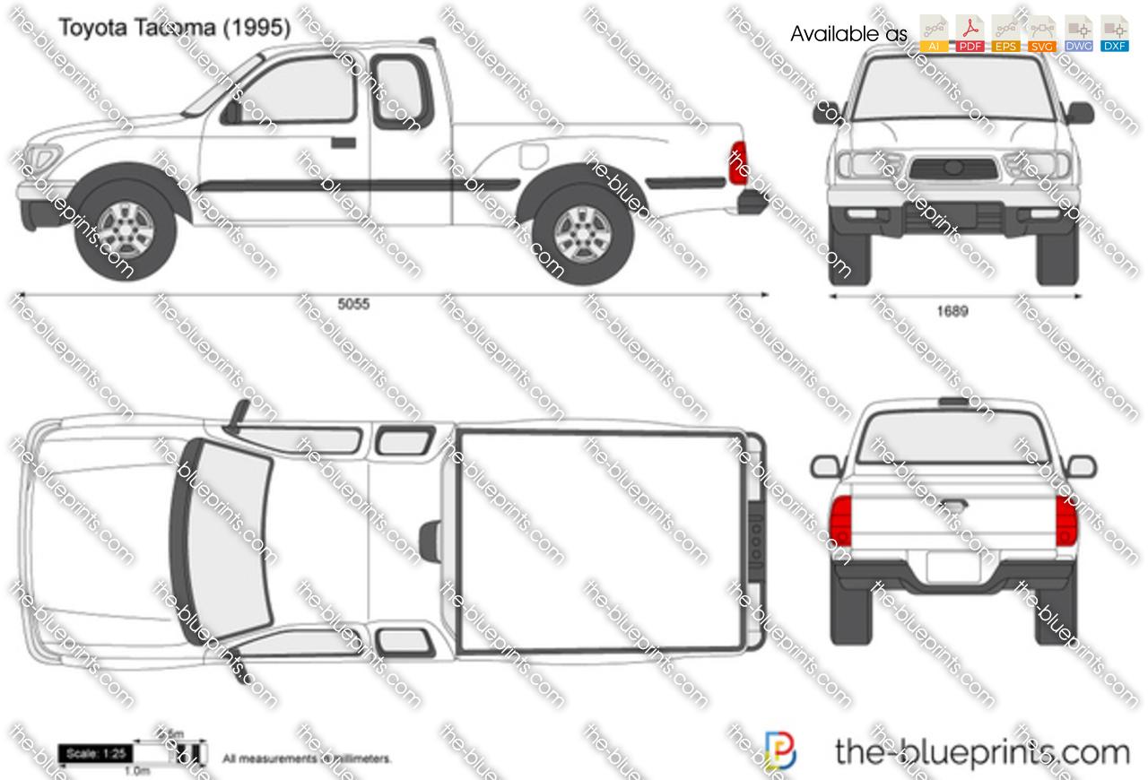 The Blueprints Com Vector Drawing Toyota Tacoma